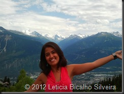 Vista do alto de Crans-Montana durante o verão