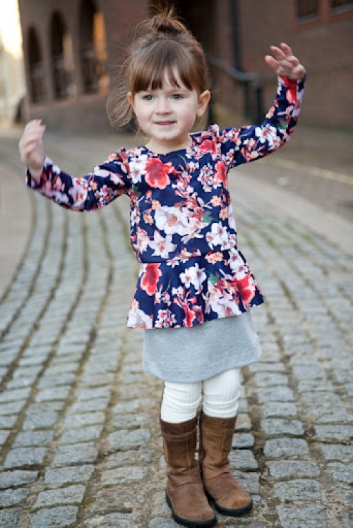 Pretty in Peplum Dress at Our Family Four 8