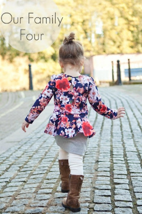Pretty in Peplum Dress at Our Family Four watermarked