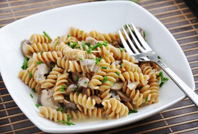 creamy mushroom pasta 072