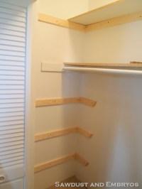 Build wood shelves closet