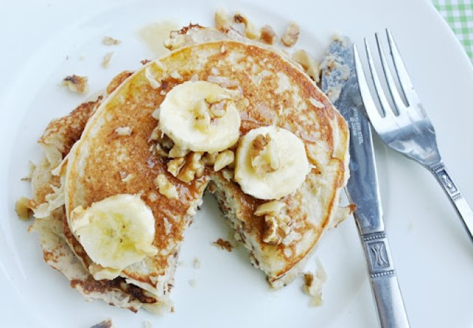 banana bread protein pancakes 079
