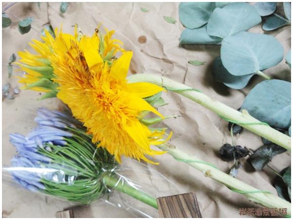 草月流插花課-籬笆的春天