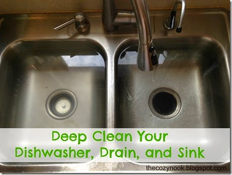 The Cozy Nook Deep Clean Your Dishwasher Drain And Sink