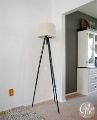 DIY Vintage Tripod Lamp