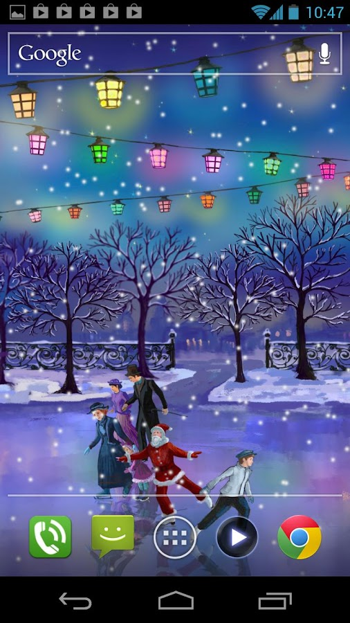3d Flower Touch Live Wallpaper Christmas Rink Live Wallpaper Android Apps On Google Play