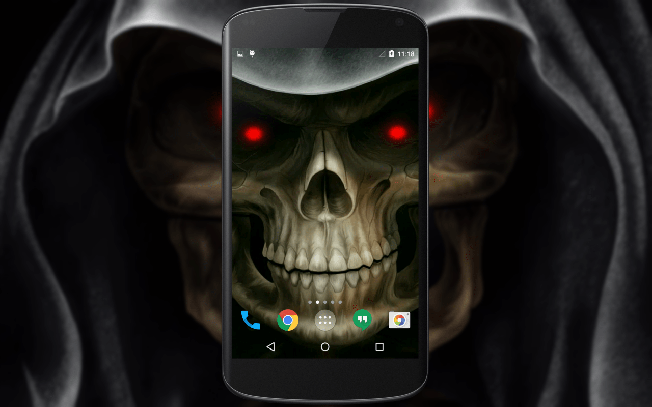 Animated Clock Wallpaper For Samsung Mobile Skull 3d Live Wallpaper Android Apps On Google Play