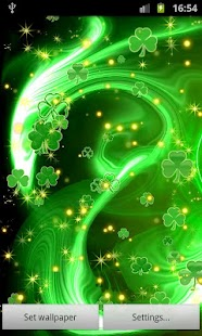 3d Effect Live Wallpapers Shamrock Live Wallpaper Android Apps On Google Play