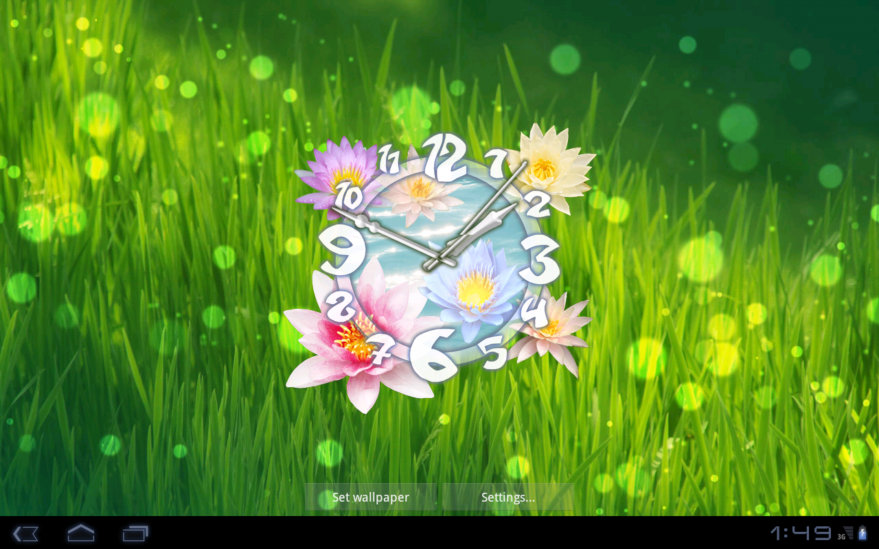 Zedge 3d Moving And Live Wallpapers Flower Clock Live Wallpaper Android Apps On Google Play