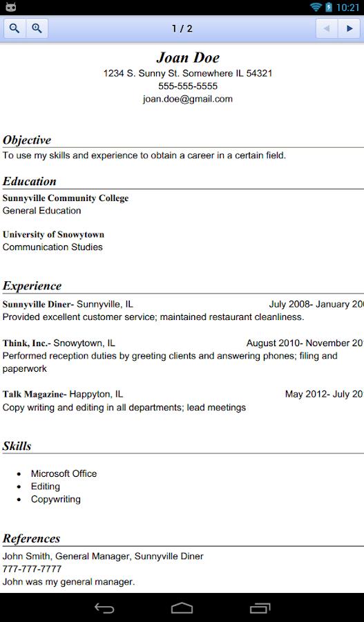 resume template google drive 30042017