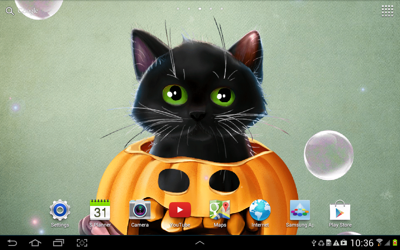 Puppies In Fall Wallpaper Cute Halloween Live Wallpaper Android Apps On Google Play