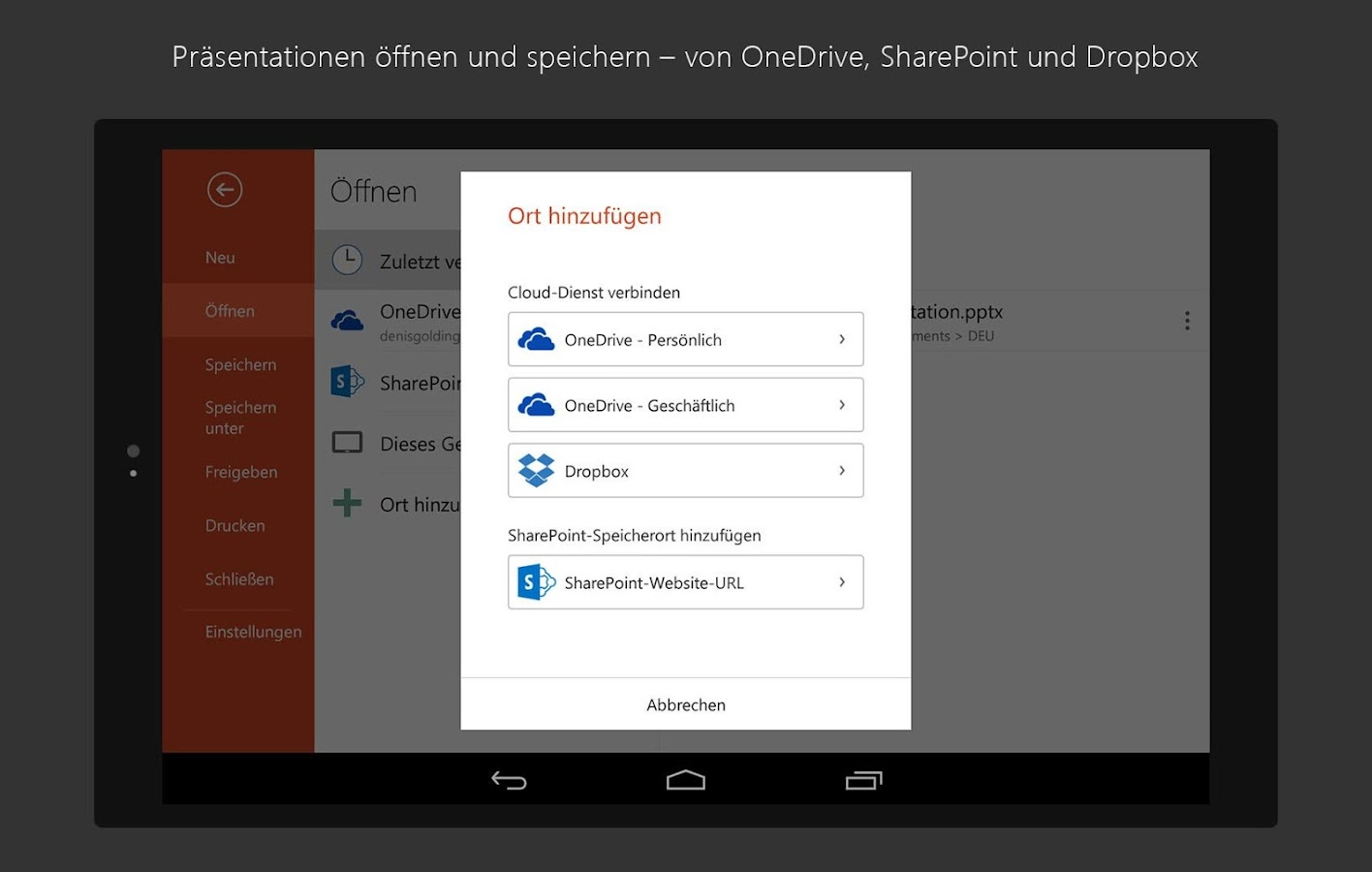 Microsoft Office Pour Tablette Microsoft Powerpoint Android Apps Auf Google Play
