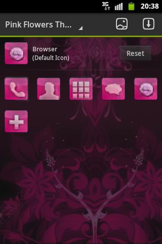 Go Launcher 3d Wallpaper Pink Flowers Theme Go Launcher Android Apps On Google Play