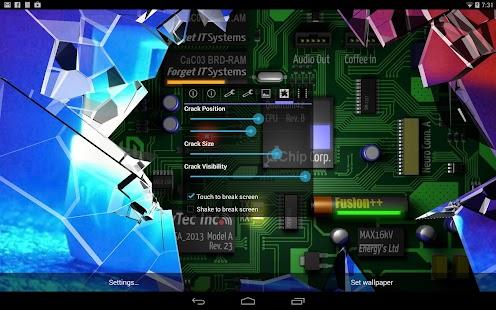 3d Depth Wallpaper S8 Cracked Screen Gyro 3d Pro Parallax Wallpaper Hd Android
