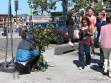 Crazy Homeless Scare People from Behind Bush Guy - San Francisco-1.JPG