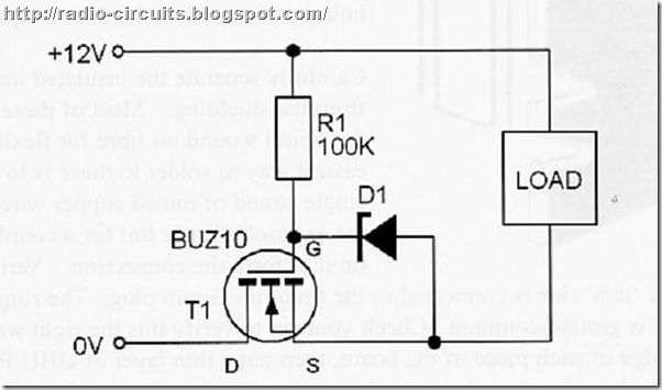 this circuit provides simple reverse polarity protection for your rig