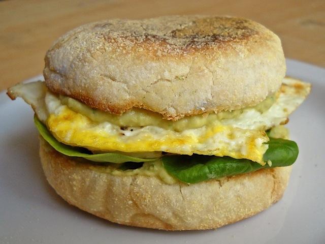 Jalapeno Hummus Breakfast Sandwich