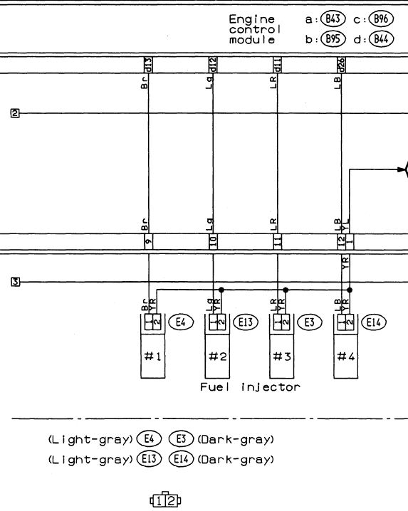 Subaru Injector Wiring Diagram Wiring Diagram 2019