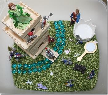 Princess and Knights sensory tub