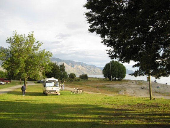 Campervan at Lake Hawea, South Island, New Zealand