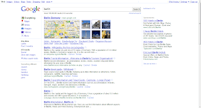 zentrierte Ergebnisse mit Werbung (Sidebar)