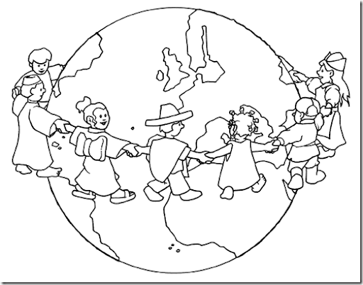 pinto dibujos bandera de las naciones unidas para colorear