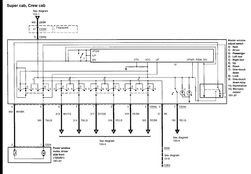 Ford F150 Power Mirror Wiring Diagram Electronic Schematics