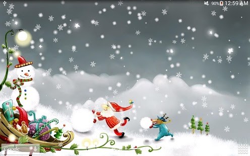 3d Snowy Cottage Animated Wallpaper Free Download Christmas Snow Live Wallpaper Android Apps On Google Play