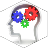 Psychology Colorful Brain With Gears