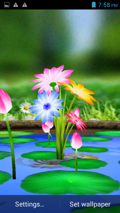 3D Flowers Touch Wallpaper - Android Apps on Google Play