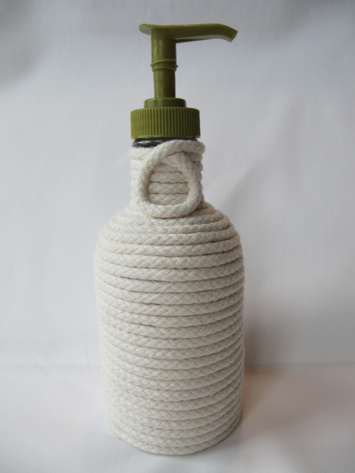 Hand Soap Bottle Holder Laurie 39s Projects Rope Soap Dispenser
