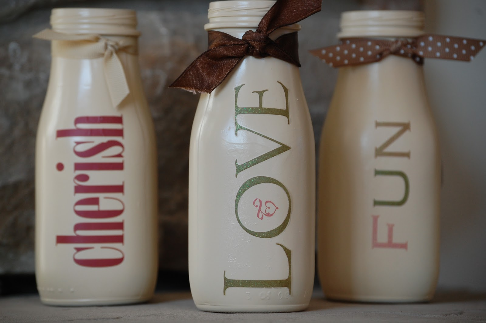 Milk Bottles For Decoration Redefining C Live Laugh Love Milk Bottles Diy
