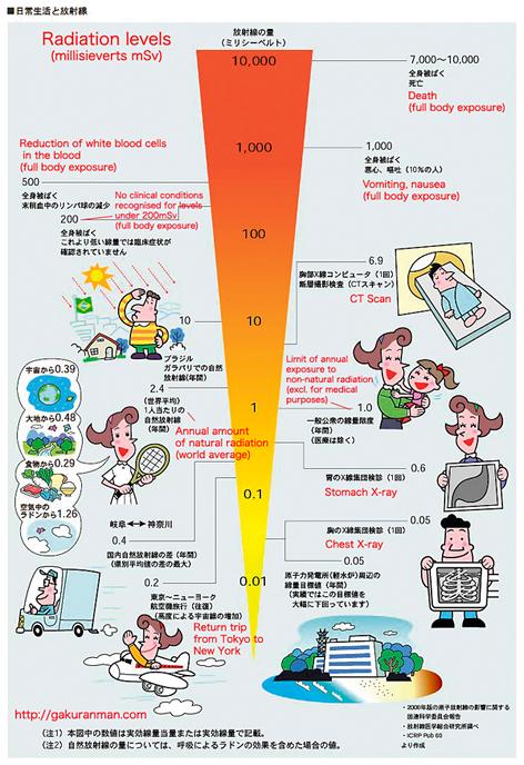 JoeJoeBoy\u0027s Blog Infographic Radiation Levels Chart