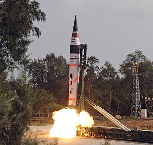 19 April 2012 test launch of the Agni V