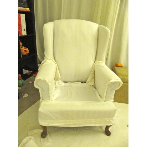 Medium Crop Of Wing Chair Slipcover