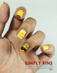 Nail Art: Here Comes The Sun | Simply Rins