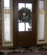 New Entry Hall Window Treatments - Sonya Hamilton Designs