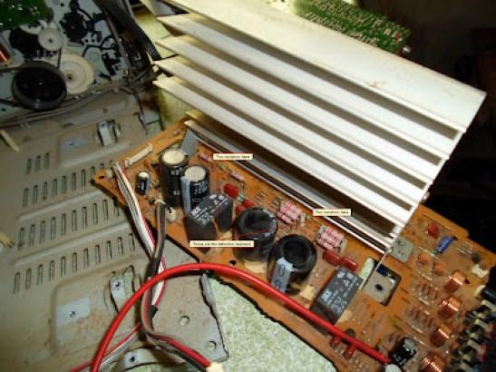 Sharp mini component defective resistor location