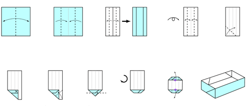Rectangular Origami Box Instructions Tutorial Origami