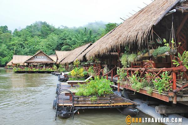 river kwai jungle rafts floatel kanchanaburi, kanchanaburi river hotel review