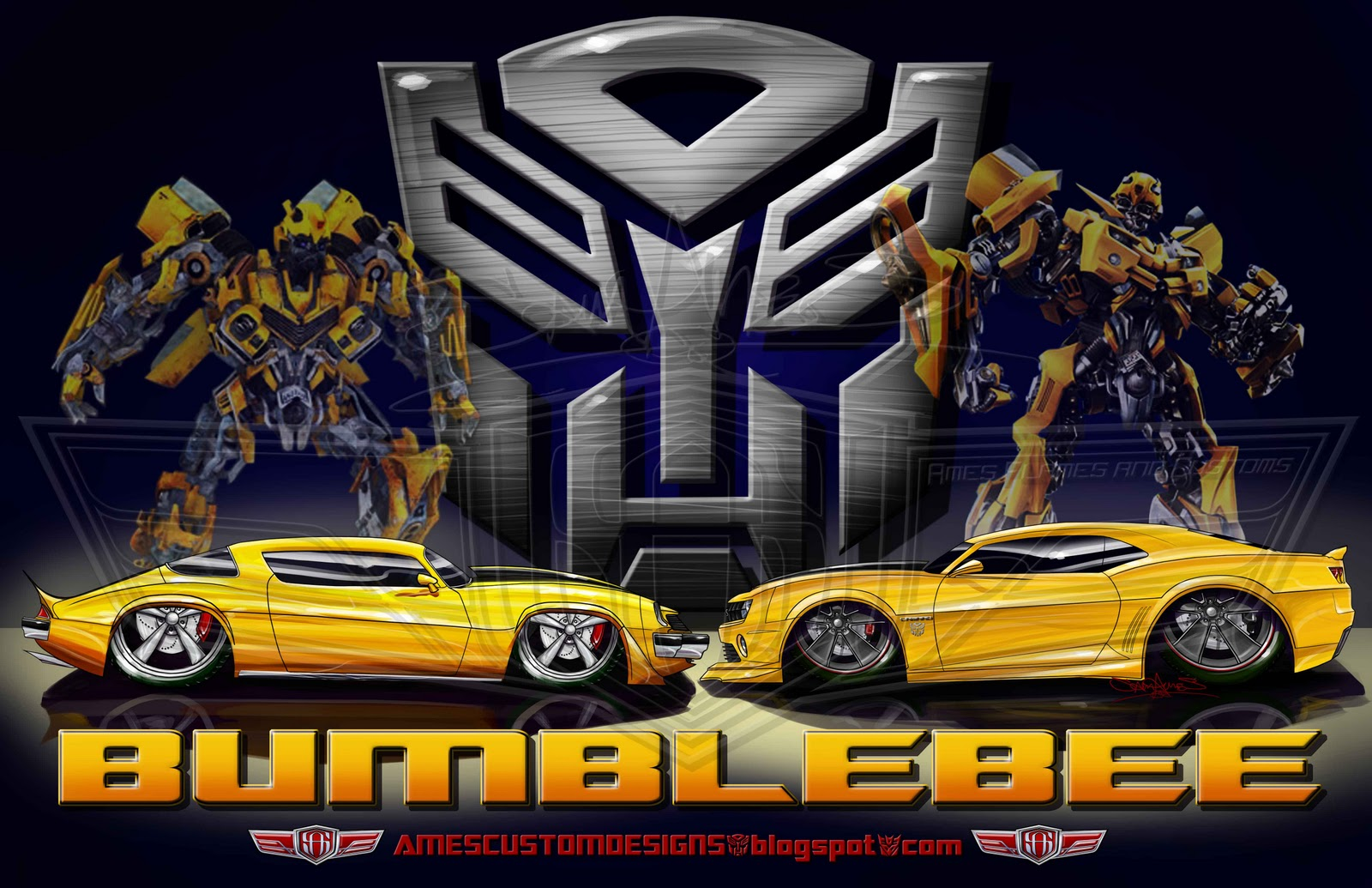 Transformers Iphone 6 Plus Wallpaper Sam Ames Transformers Bumblebee Old And New 1977 Camaro