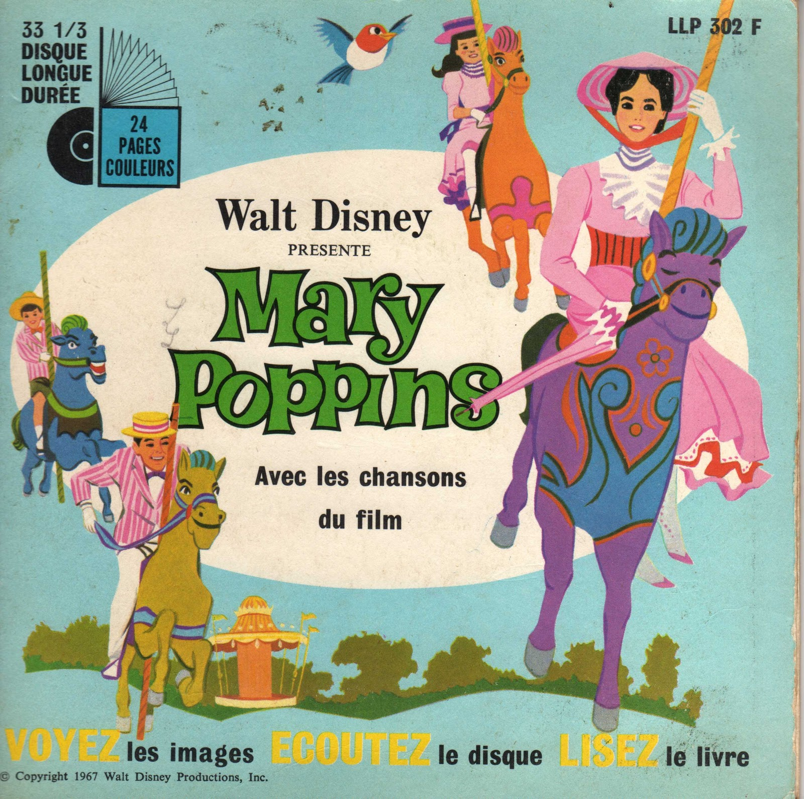 Mary Poppins Chem Cheminée Paroles En Broc Llp 302 F Mary Poppins Disneyland Records 1967