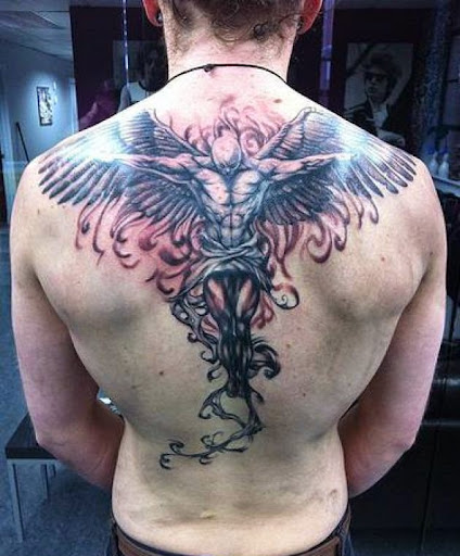 angel wings tattoos on back