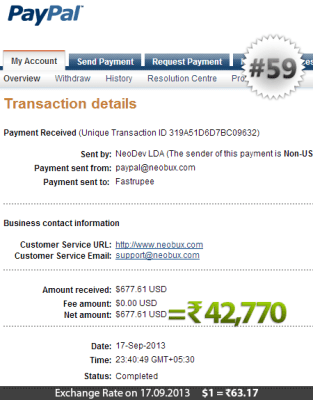Neobux Payment Proof 59