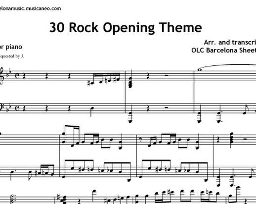 office theme sheet music 3slufsluidsprekers