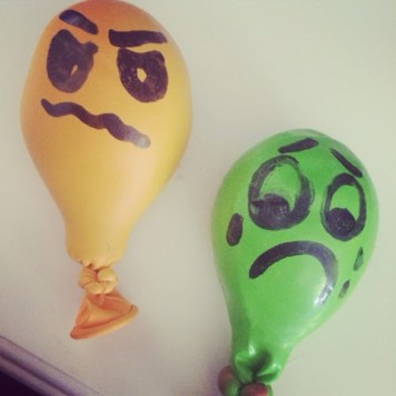 Play dough filled balloons are a great calming tool for kids.