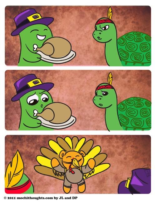 Cute Comics, Thanks Turkey