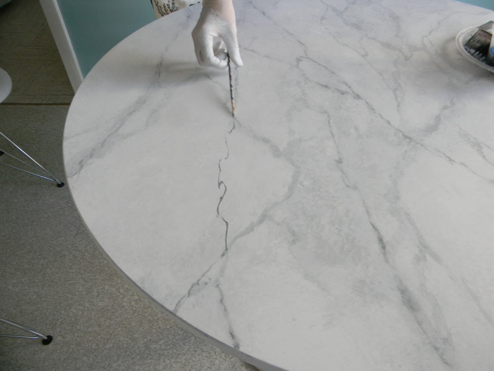 Gorgeous Shiny Things How To Happy Hour Faux Carrara Marble Ikea Hack