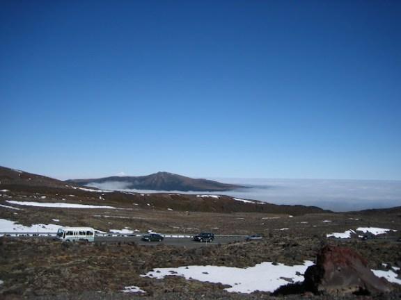 Driving on Mt Ruapehu