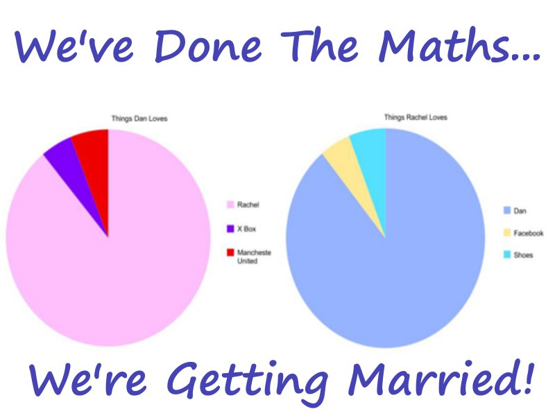 Weu0027ve done the math! Pie chart wedding invitations for Pi Day - warehouse cover letter